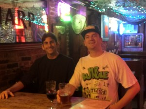 Hangin' out with Jordan at Peculier Pub