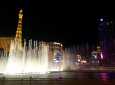 Part of the water show at the Bellagio