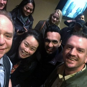 I had to duck to get into Teller's selfie.