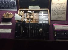 Eye case, instruments and supplies from WWI