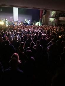 Iggy walking through the crowd