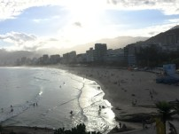 Looking over Copacabana at dusk