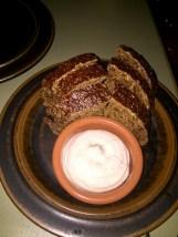 Bread with bone marrow butter