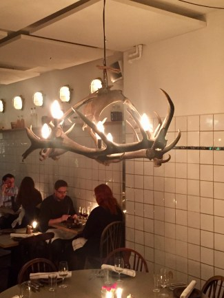 You know a place is going to be good when they have chandeliers made of antlers
