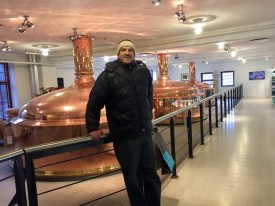 Me inside the brewery