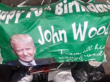 Life hack: If you have a Donald Trump banner, use it to cover rubbish