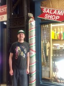 A salami bigger than me