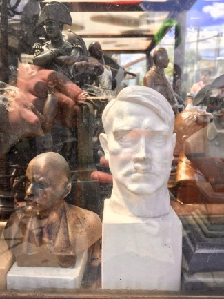 Hitler and Lenin busts
