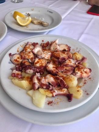 Octopus and potato