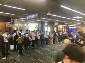 The beginning of the VAT queue