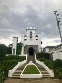 Outside a church near the hacienda