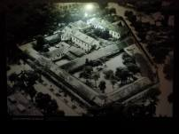 An arial photo of the former compound