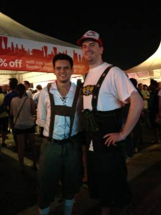 With an angry German guy at Beerfest 2013