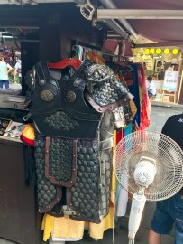You could buy costumes of ancient suits of armour