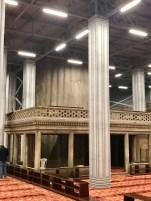 The edge of the prayer area