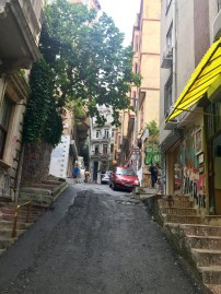 I wasn't kidding when I said these streets were steep