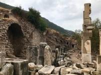 Ruins near an aqueduct