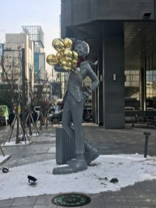 A statue out the front of GLAD COEX