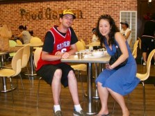 With Anna in a local food court