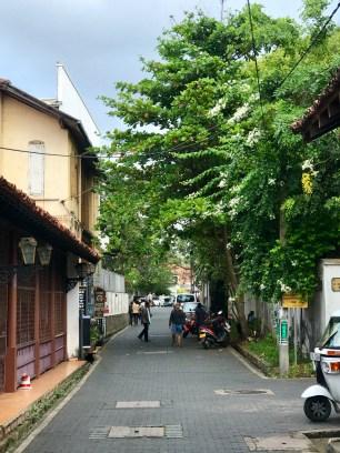Walking toward town