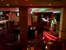 The sad hotel bar we went into first in Guatemala City