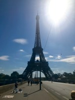 The fake goods start well before the Eiffel Tower...