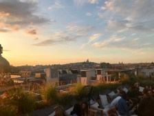 The view from the rooftop bar