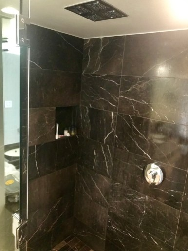 This glorious shower was like having and endless bucket pouring on you!