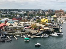 Looking over Granville Island and the market