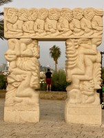 One of many interesting sculptures in Jaffa