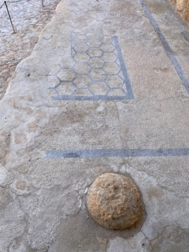 A mosaic floor