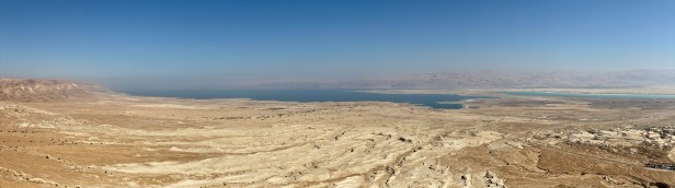 Panoramic shot of the Dead Sea