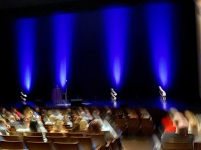 A blurry shot of the stage (this is probably how TJ saw the entire show)