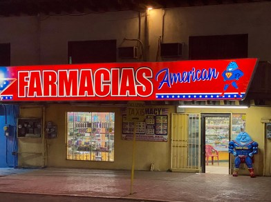 One of dozens of pharmacies in town