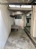 An outdoor area, part of which will become our ensuite and walk-in wardrobe