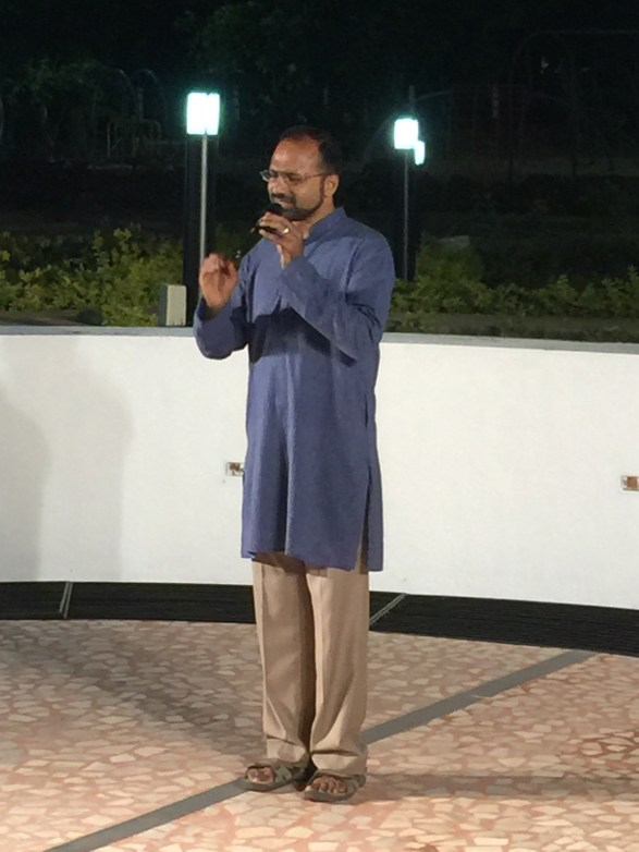 One of the performers on the night
