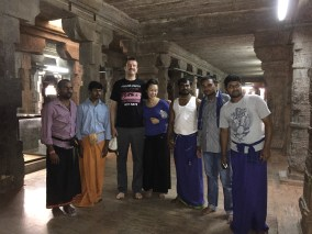 With a group of locals who were fascinated by Anna and myself