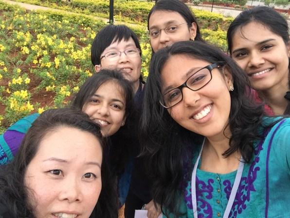 Dr. V memorial selfie by the Aravind-Pondicherry crew
