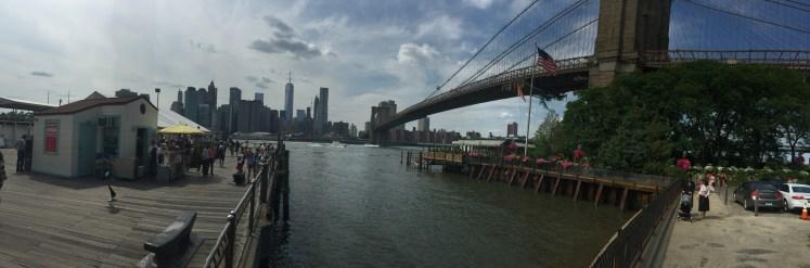 Panoramic view from Dumbo, Brooklyn
