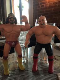 """The late """"Macho Man"""" Randy Savage and George """"The Animal"""" Steel figures that possibly landed me an awesome job."""