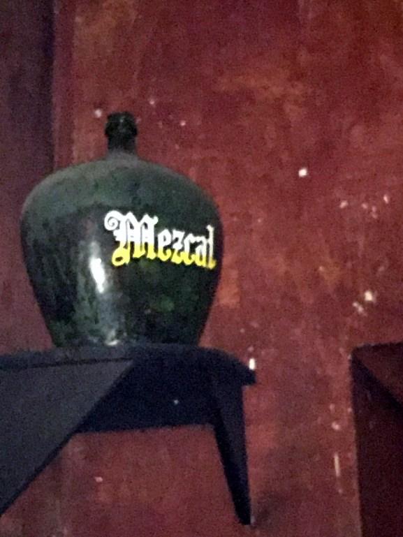 An old mezcal jug