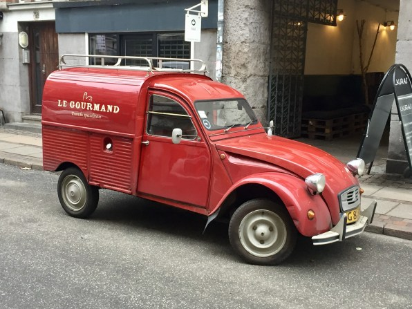 An old-school Citroen delivery van