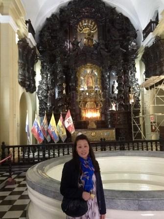 Anna inside the church