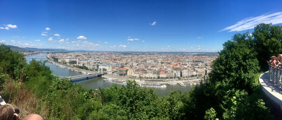 Panoramic shot of the Danube