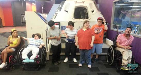 DRTC's Special Needs Program poses for a group picture at Science Museum Oklahoma.