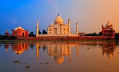 Taj Mahal, Agra, India, on sunset