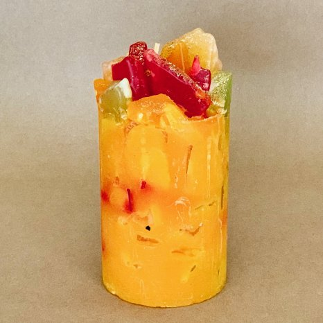 Orange Mango Scented Pillar Candle (Tropical Treasure)