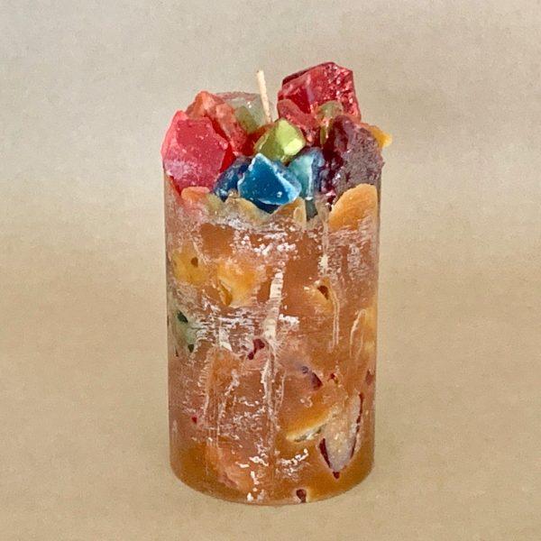 Pumpkin Spice Scented Pillar Candle (Autumn Spice)