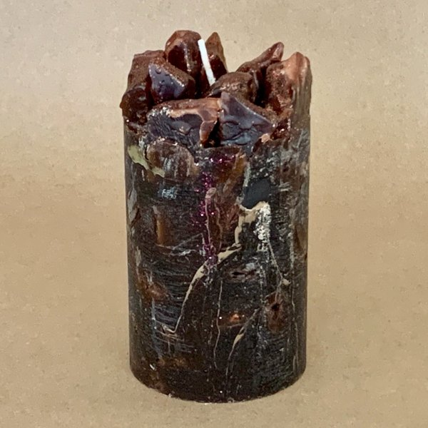 Brown Coffee Scented Pillar Candle (Wake Me Up)