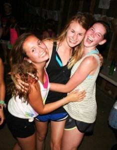 Girls self esteem soaring at camp!